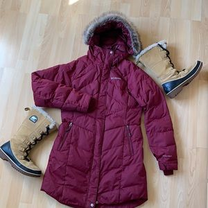 Used Columbia Omni-Heat Maroon Winter Jacket